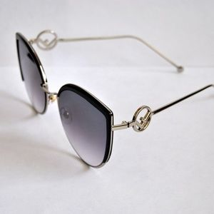 F New Logo Cat Eye Oversize Sunglasses